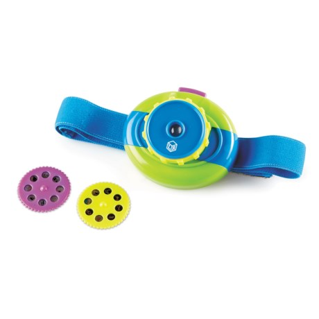 Learning Resources Primary Science Headlamp Projector in Lime Green/Aqua