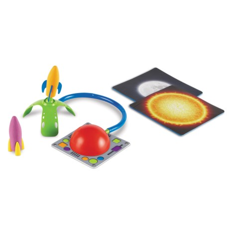 Learning Resources Primary Science Leap & Launch Rocket Set - 5-Piece in Red/Multi