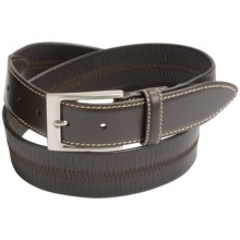 Leather Island by Bill Lavin Agnolo Calfskin Belt (For Men) in Brown - Closeouts