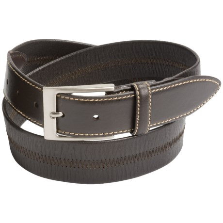 Leather Island by Bill Lavin Agnolo Calfskin Belt (For Men)