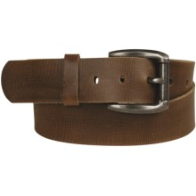 Leather Island by Bill Lavin Curved Buckle Belt - Leather (For Men) in Brown - Closeouts