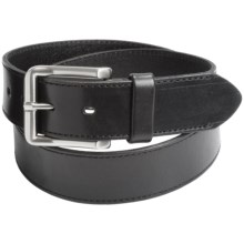 Leather Island by Bill Lavin Cut-Edge Leather Belt (For Men) in Black - Closeouts