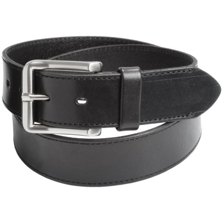 Leather Island by Bill Lavin Cut Edge Leather Belt (For Men)