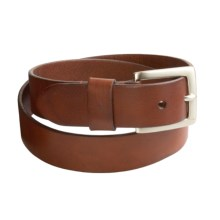 Leather Island by Bill Lavin Leather Dress Belt - Nickel Satin Buckle (For Men) in Brown - Closeouts