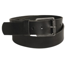 Leather Island by Bill Lavin Square Buckle Belt (For Men) in Black - Closeouts
