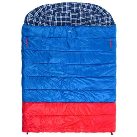 Ledge 0°F Alaska Sleeping Bag - Double Wide in Blue/Red - Closeouts