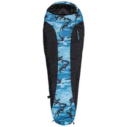 Ledge 0°F River Jr. Sleeping Bag - Mummy (For Big Kids) in Blue Camo - Closeouts