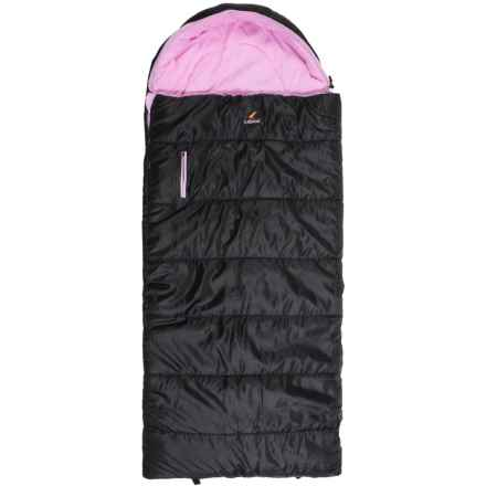 Ledge 25°F Springz Sleeping Bag (For Little Kids) in Black/Cosmic Pink - Closeouts