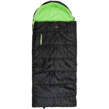 Ledge 25°F Springz Sleeping Bag (For Little Kids) in Black/Green - Closeouts