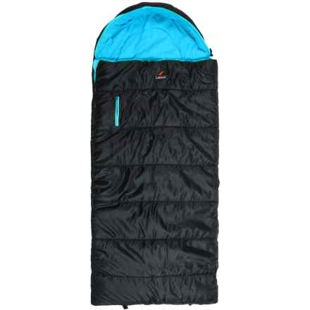 Ledge 25°F Springz Sleeping Bag (For Little Kids) in Black/Neptune Blue - Closeouts