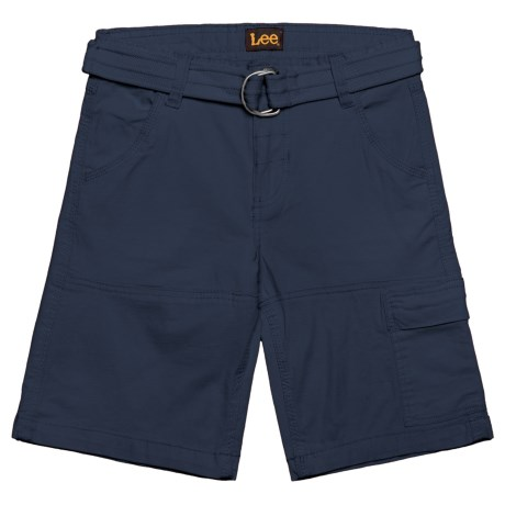 Lee Belted Ripstop Cargo Shorts (For Big Boys) in Blue Night