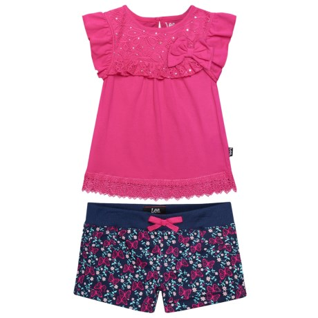 Lee Bow Shirt and Shorts Set - (For Infants) in Navy