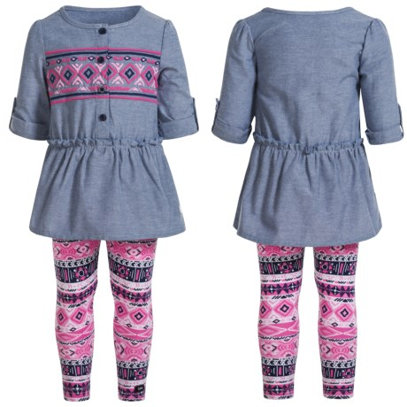 Lee Chambray Tunic Shirt and Leggings Set (For Infants and Toddlers)