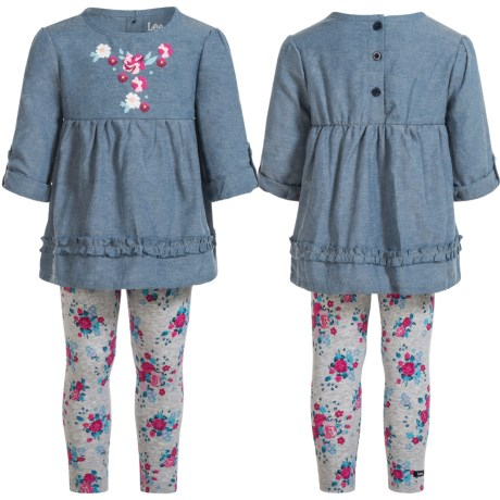 Lee Chambray Tunic Shirt and Leggings Set - Long Sleeve (For Infants and Toddlers)