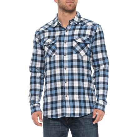 9f834bafd1 Lee Clive Flannel Shirt - Long Sleeve (For Men) in Blue - Closeouts
