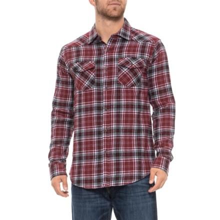 ee800a5c Lee Cooper Flannel Shirt - Long Sleve (For Men) in Zinfandel - Closeouts