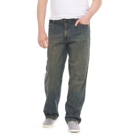 Lee Custom Straight-Fit Jeans - Tapered Leg (For Big and Tall Men) in Worn Stone