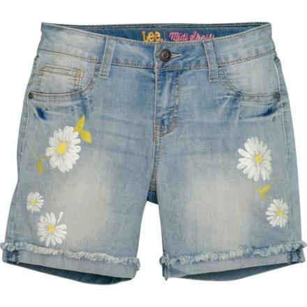 ef672b5ff Lee Daisy Print Denim Shorts (For Big Girls) in Vintage - Closeouts