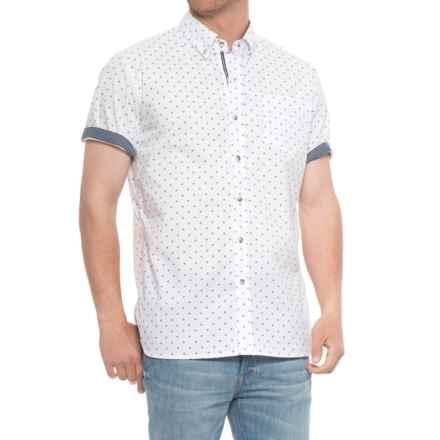 Lee Ditsy Print Shirt - S/S (For Men) in White - Overstock