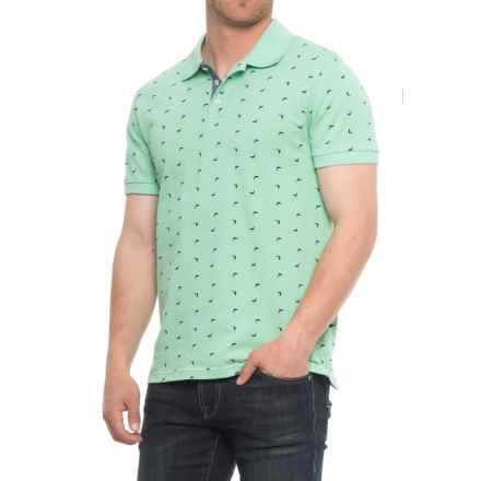 Lee Dundee Ditsy Print Pique Polo Shirt - Short (For Men) in Teadust - Overstock