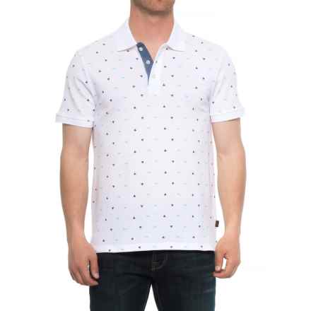 Lee Dundee Ditsy Print Pique Polo Shirt - Short (For Men) in White - Overstock