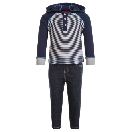 Lee Henley Hoodie and Sweatpants Set (For Infants) in Blue