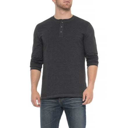 6f2443fc Lee Henley Shirt - Long Sleeve (For Men) in Charcoal Heather - Closeouts