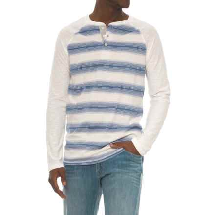 Lee Josh Striped Henley Shirt - Long (For Men) in Snow - Closeouts