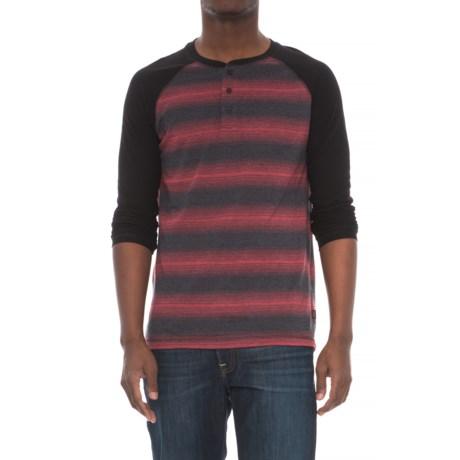 Lee Josh Striped Henley Shirt - Long Sleeve (For Men) in Black