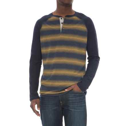 Lee Josh Striped Henley Shirt - Long Sleeve (For Men) in Navy - Closeouts