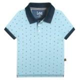 Lee Printed Pique Polo Shirt - Short Sleeve (For Little Boys)