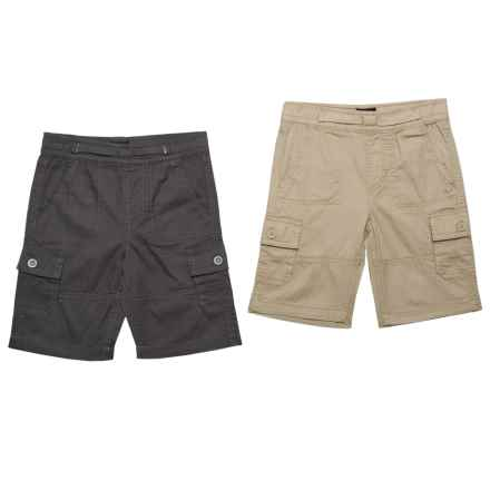 Lee Pull-On Cargo Shorts - Set of 2 (For Little Boys) in Charcoal - Closeouts