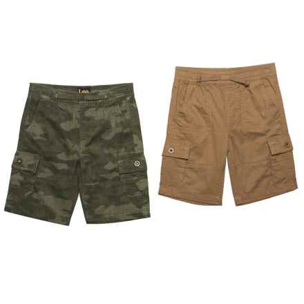Lee Pull-On Cargo Shorts - Set of 2 (For Little Boys) in Wheat - Closeouts