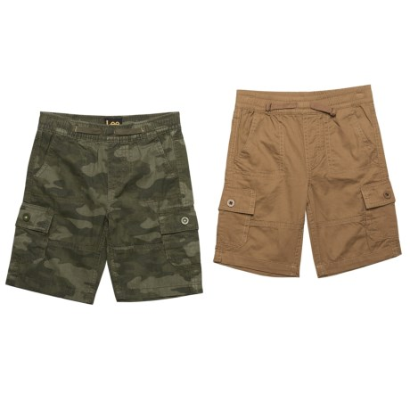 Lee Pull-On Cargo Shorts - Set of 2 (For Little Boys) in Wheat