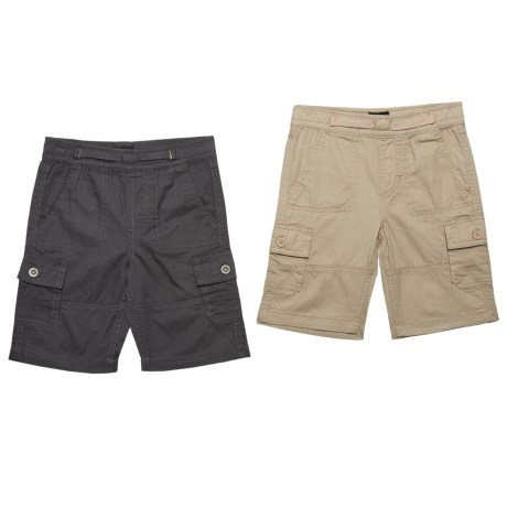 Lee Pull-On Cargo Shorts - Set of 2 (For Toddler Boys) in Charcoal