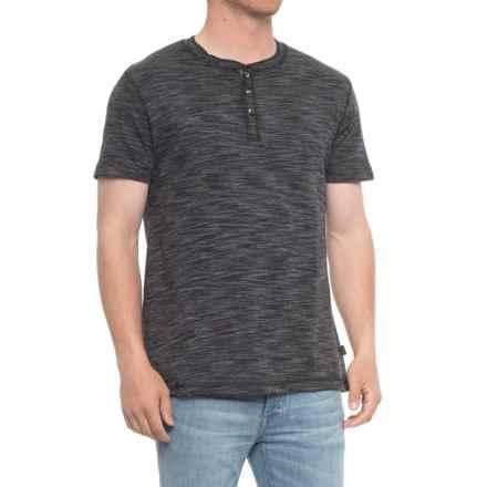 Lee Richie Henley Shirt - Short (For Men) in Black - Overstock