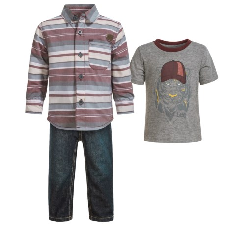 Lee Shirt and Jeans Set - Long and Short Sleeve (For Infants) in Thunder