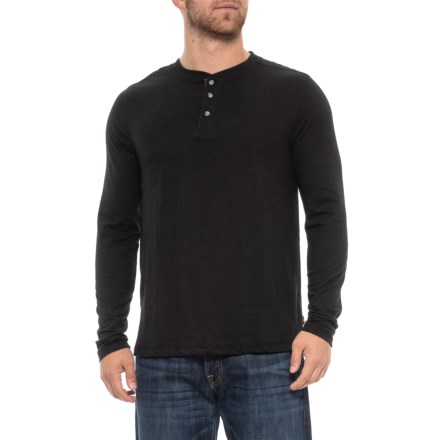 f4972973887 Lee Skyler Henley Shirt - Long Sleeve (For Men) in Black - Closeouts