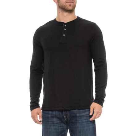 Lee Skyler Henley Shirt - Long Sleeve (For Men) in Black - Closeouts