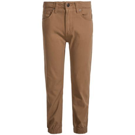 Lee Stretch Twill Joggers (For Big Boys) in Wheat