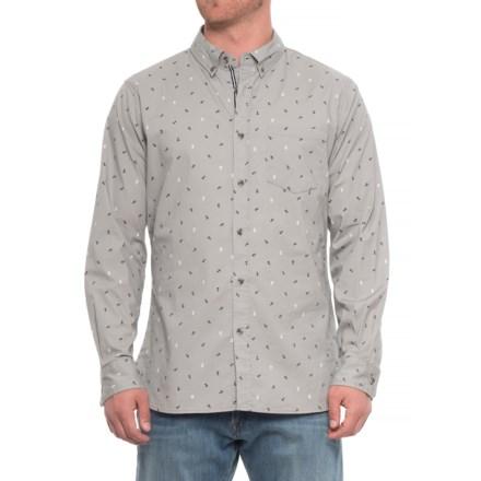 4abd86903c8 Lee Tobin Allover Anchor Print Shirt - Long (For Men) in Light Grey -