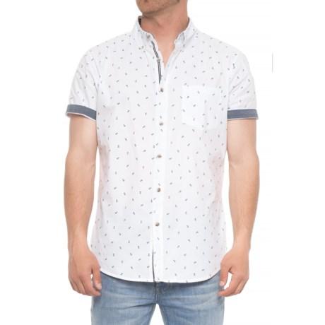 Lee Tobin Allover Anchor Print Shirt - Short (For Men) in White