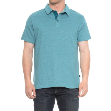 Lee Tommy Micro Stripe Polo Shirt - S/S (For Men) in Moroccan Blue