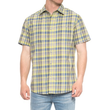 Lee Vidal Poplin Shirt - S/S (For Men) in Lemon Drop