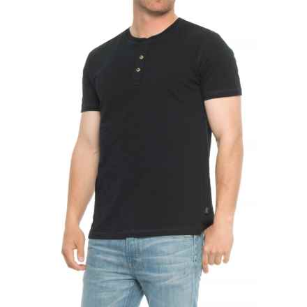 Lee Weekender Core Slub Henley Shirt - S/S (For Men) in Black - Overstock