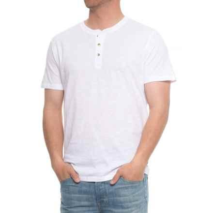 Lee Weekender Core Slub Henley Shirt - S/S (For Men) in White - Overstock