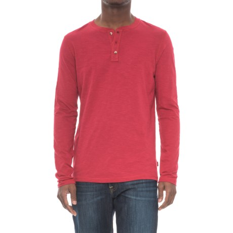 Lee Weekender Henley Shirt in Canyon Red