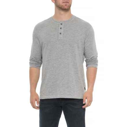 Lee Weekender Henley Shirt - Long Sleeve (For Men) in Heather Grey - Closeouts