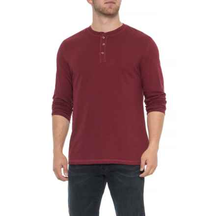 Lee Weekender Henley Shirt - Long Sleeve (For Men) in Ruby - Closeouts