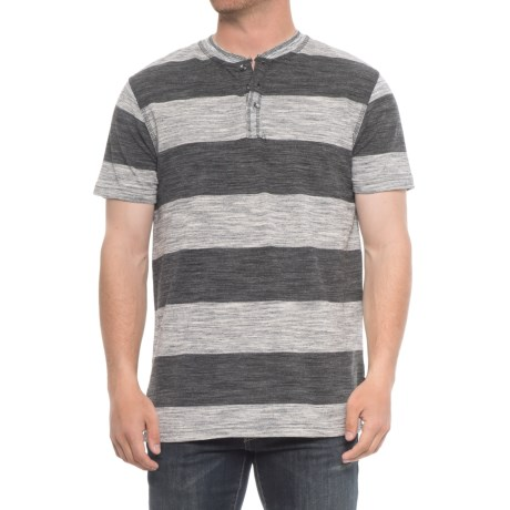 Lee Willy Rugby Stripe Henley - S/S  (For Men) in Black